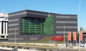 COCA-COLA offices in Madrid (Spain). Building designed by 'De Lapuerta + Asensio' architectural firm and completed in 2009.