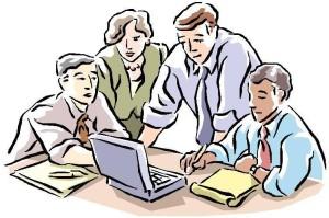 dibujo-grupo-trabajo-oficina