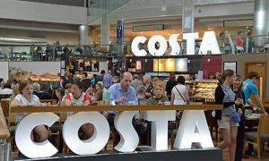 A Costa Coffee shop in Southampton